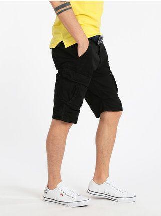 Bermuda uomo 46 48 50 52 54 56 58 60 pantalone corto cotone strech Verde BeBoard