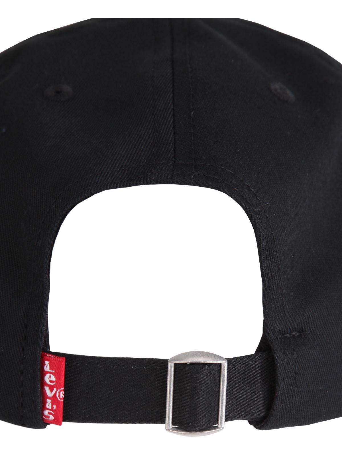 14bff9d2b levi's Black hat with visor - Big Batwing Flex Fit | MecShopping