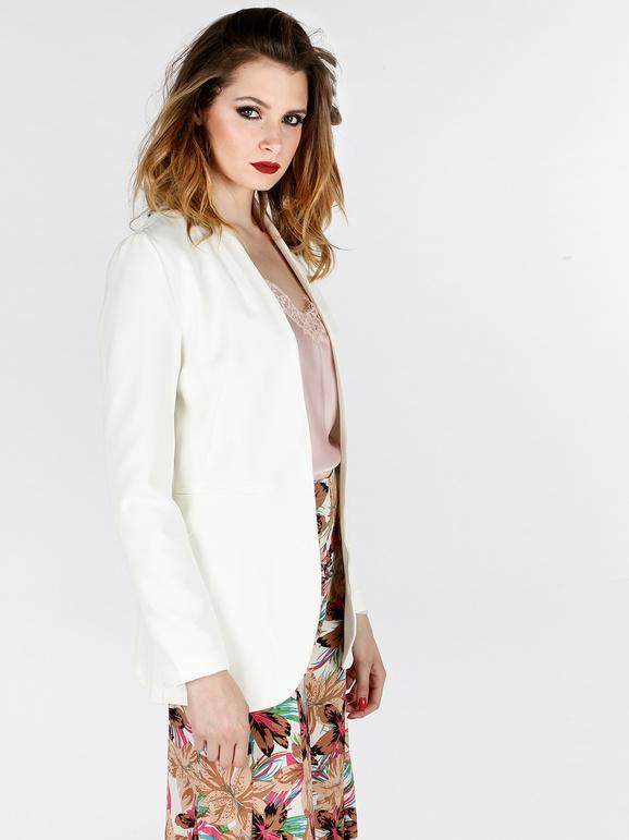 100% genuino estilo moderno venta caliente más nuevo Blazer blanco largo mujer | MecShopping
