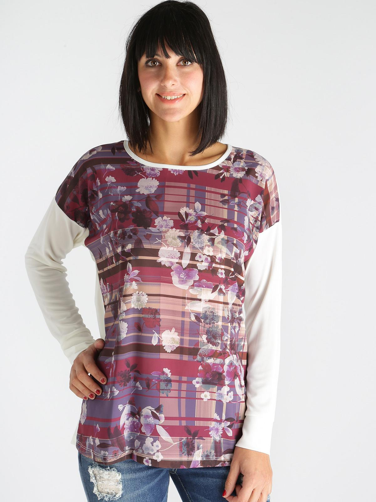 size 40 c3387 ae08c Blusa manica lunga con stampa floreale kisha | MecShopping