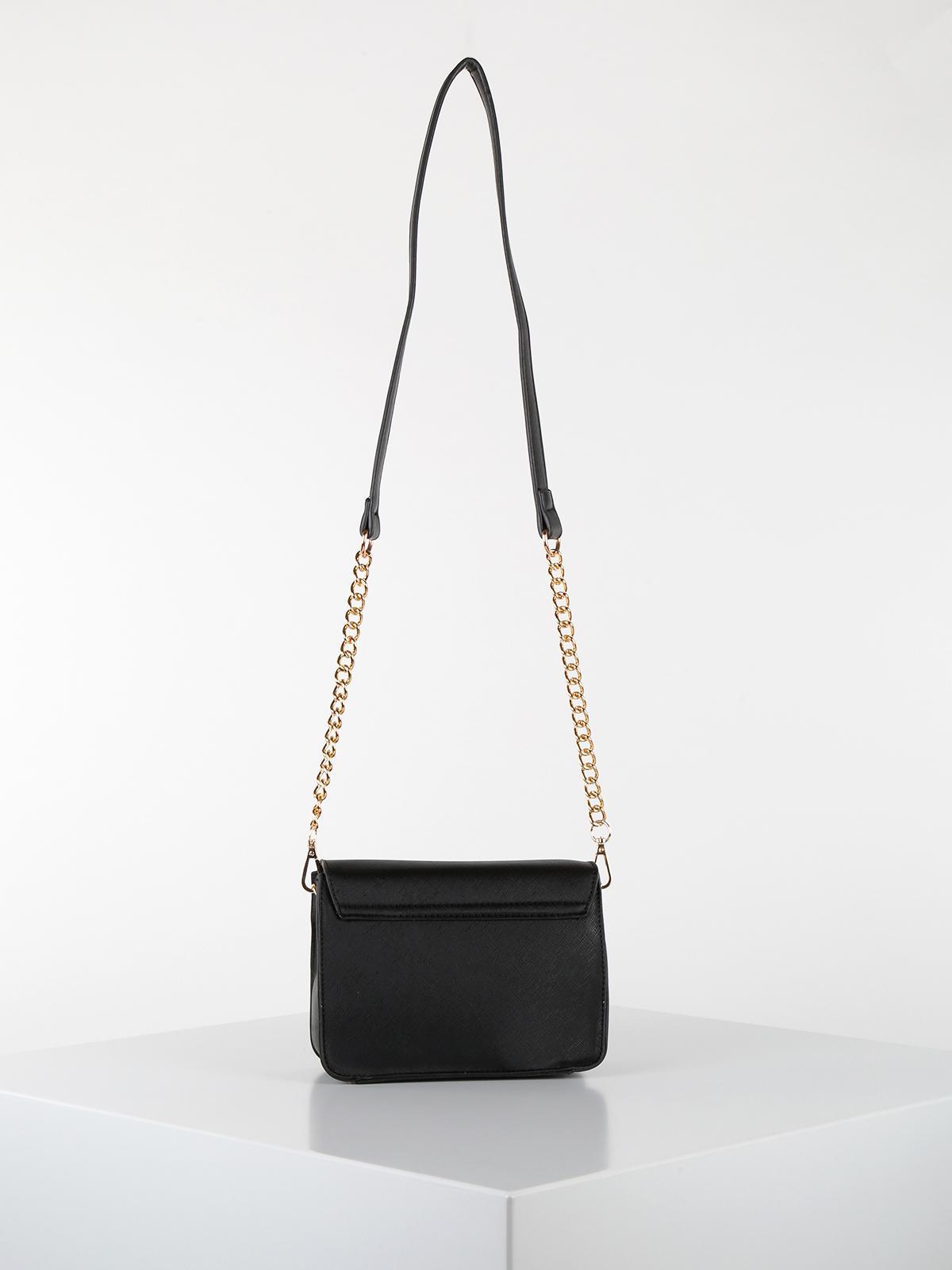 nuovo stile bedf0 cefe4 Borsa tracolla nera con borchie e strass baci & abbracci ...