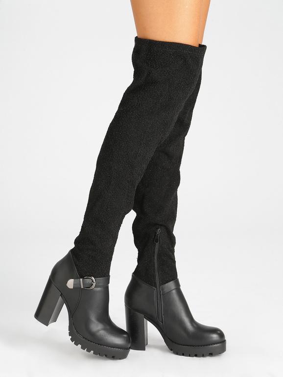 Botas altas con tacón ancho mujer | MecShopping