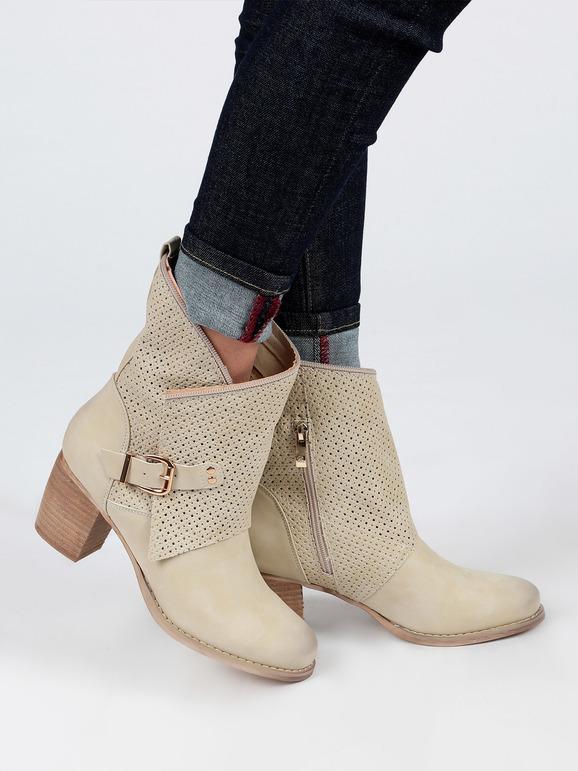 Botas moteras con tacón ancho. mujer | MecShopping