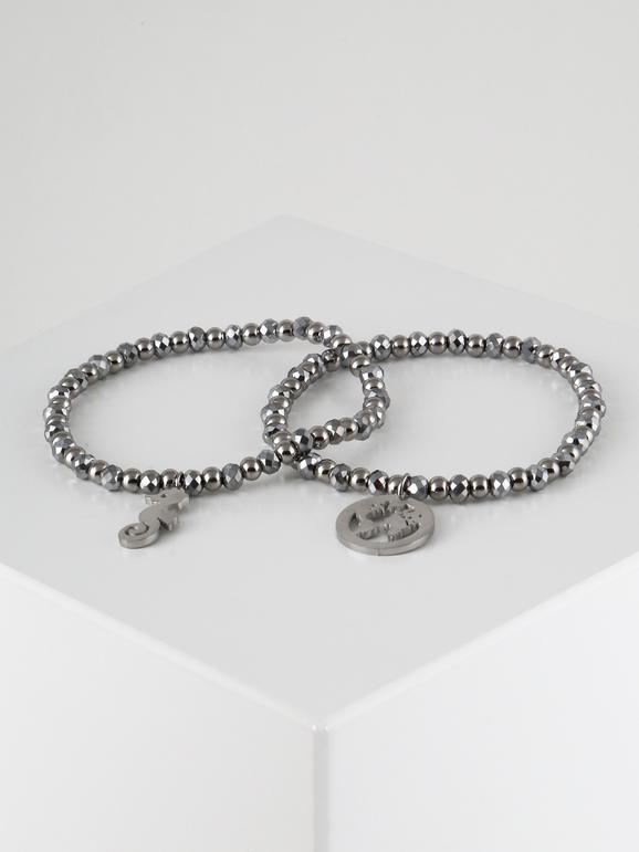 Bracciali argento con mappamondo e ippocampo