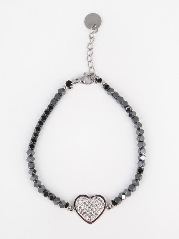 Bracelet avec coeur et strass
