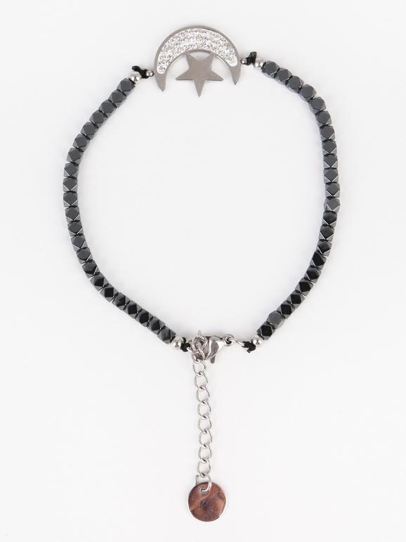 Bracelet avec lune et étoile
