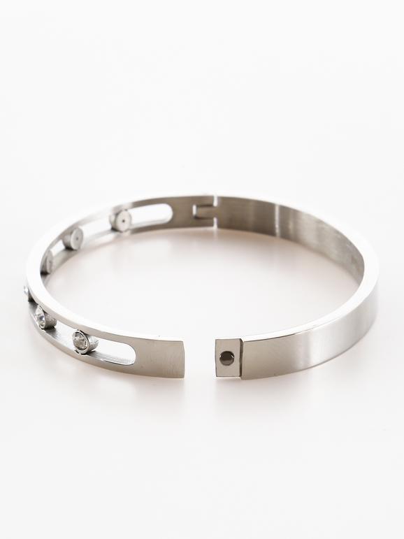 Bracelet avec strass - couleur unie
