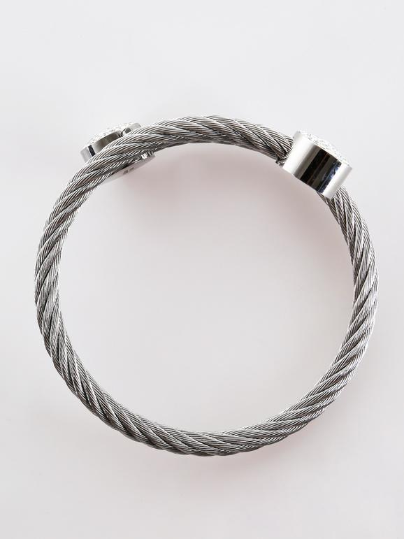 Bracelet tressé avec strass - coloré