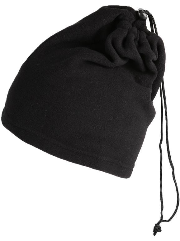 Cache-cou en polaire noir