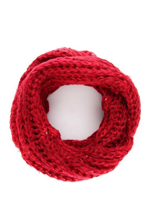Cache-cou tricoté avec strass