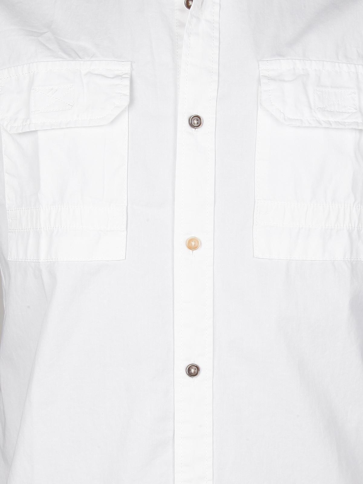 2ebdee9700 Camicia a maniche corte in cotone con taschini bread & buttons ...