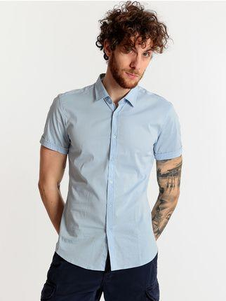 rionero camicia da uomo classica ampia a fantasia blu manica lunga elegante m xl