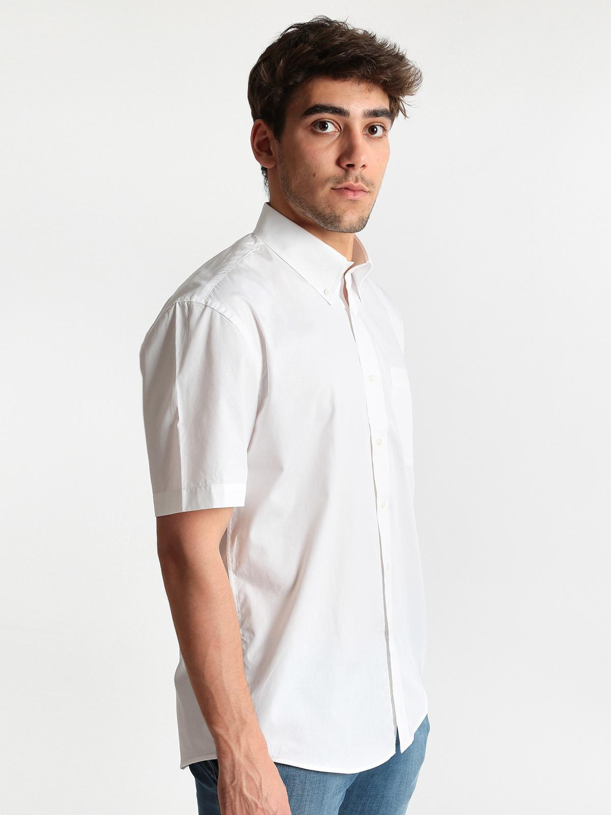 cheap for discount 63310 a0dce Camicia bianca a maniche corte in cotone mrhope | MecShopping