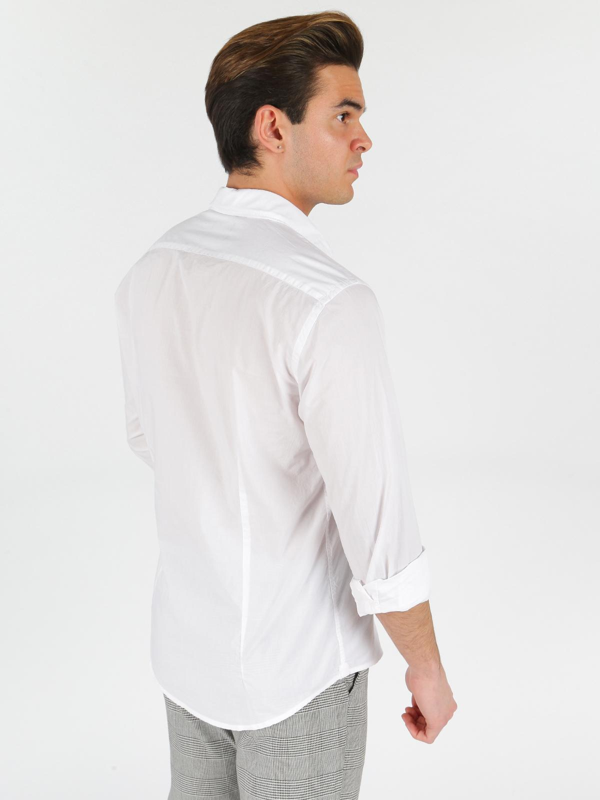 size 40 5fc08 74bb7 Camicia bianca a maniche lunghe b-style | MecShopping