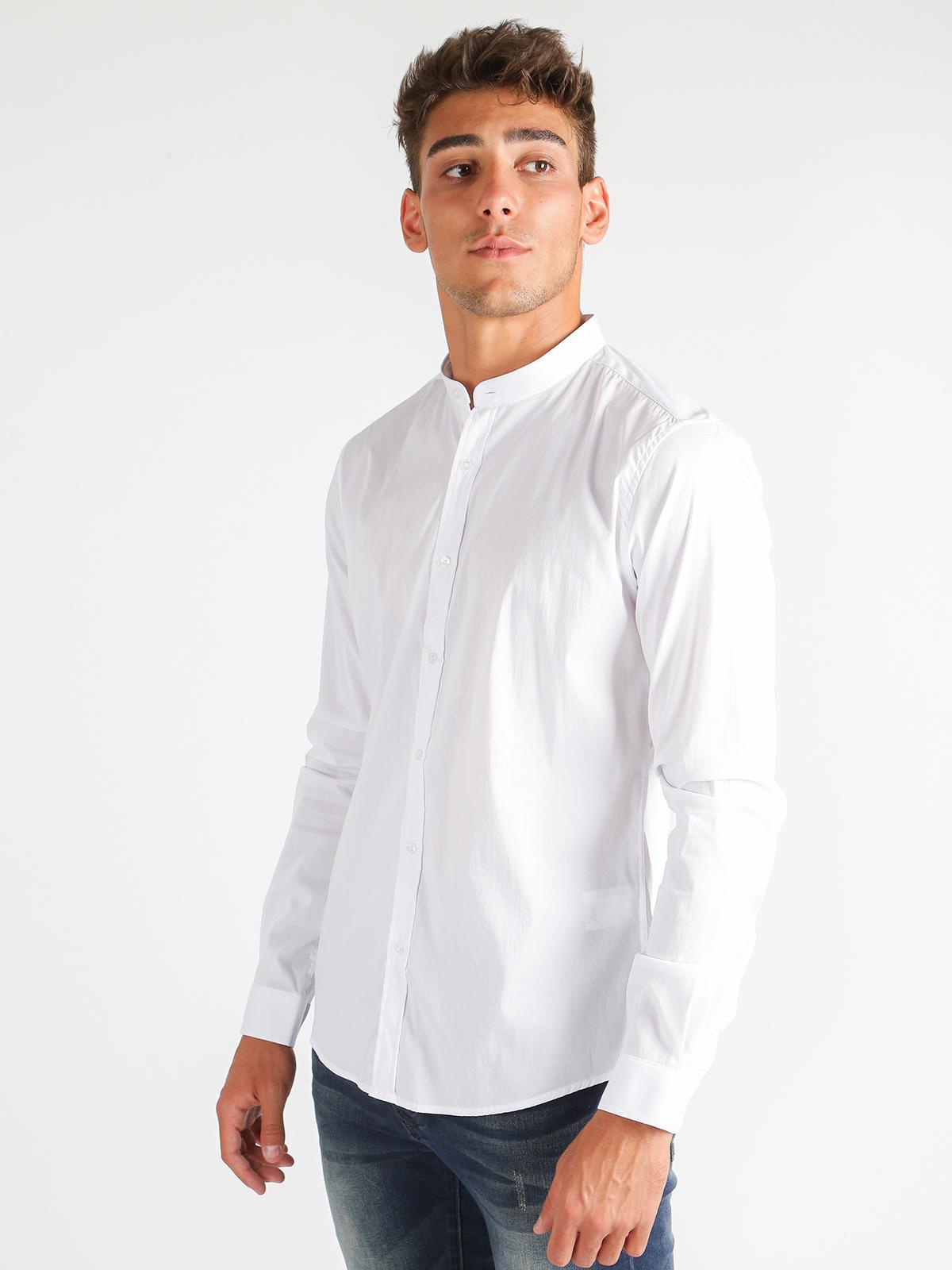 7912dffaf0 Camicia collo coreana - slim fit enos   MecShopping