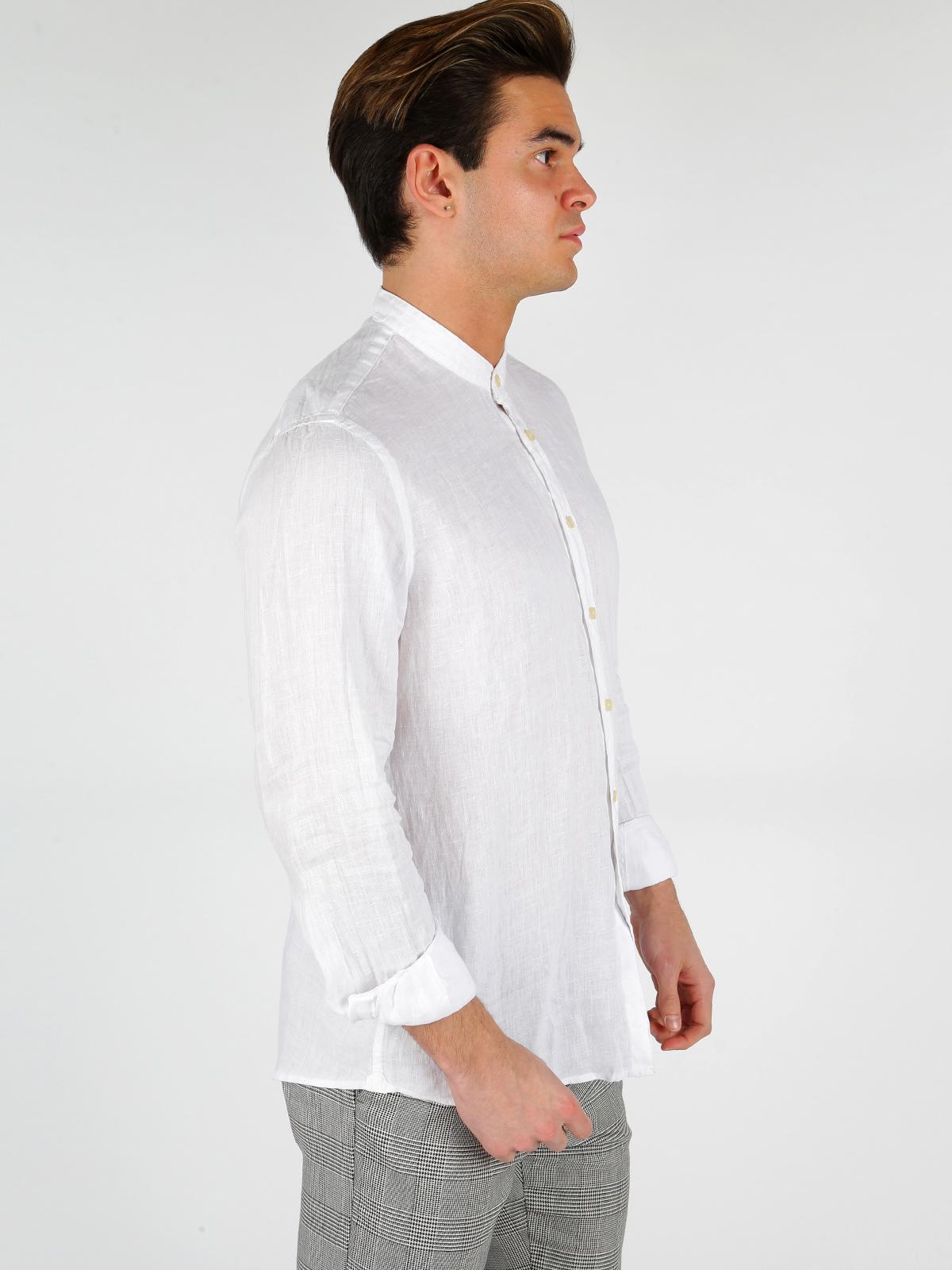 23eada91ce Camicia coreana di lino b-style   MecShopping