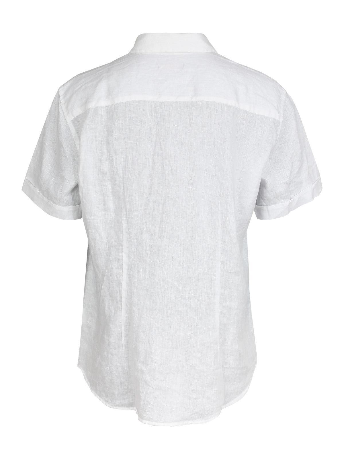 1266c60c00 Camicia di lino a maniche corte - bianco guy | MecShopping