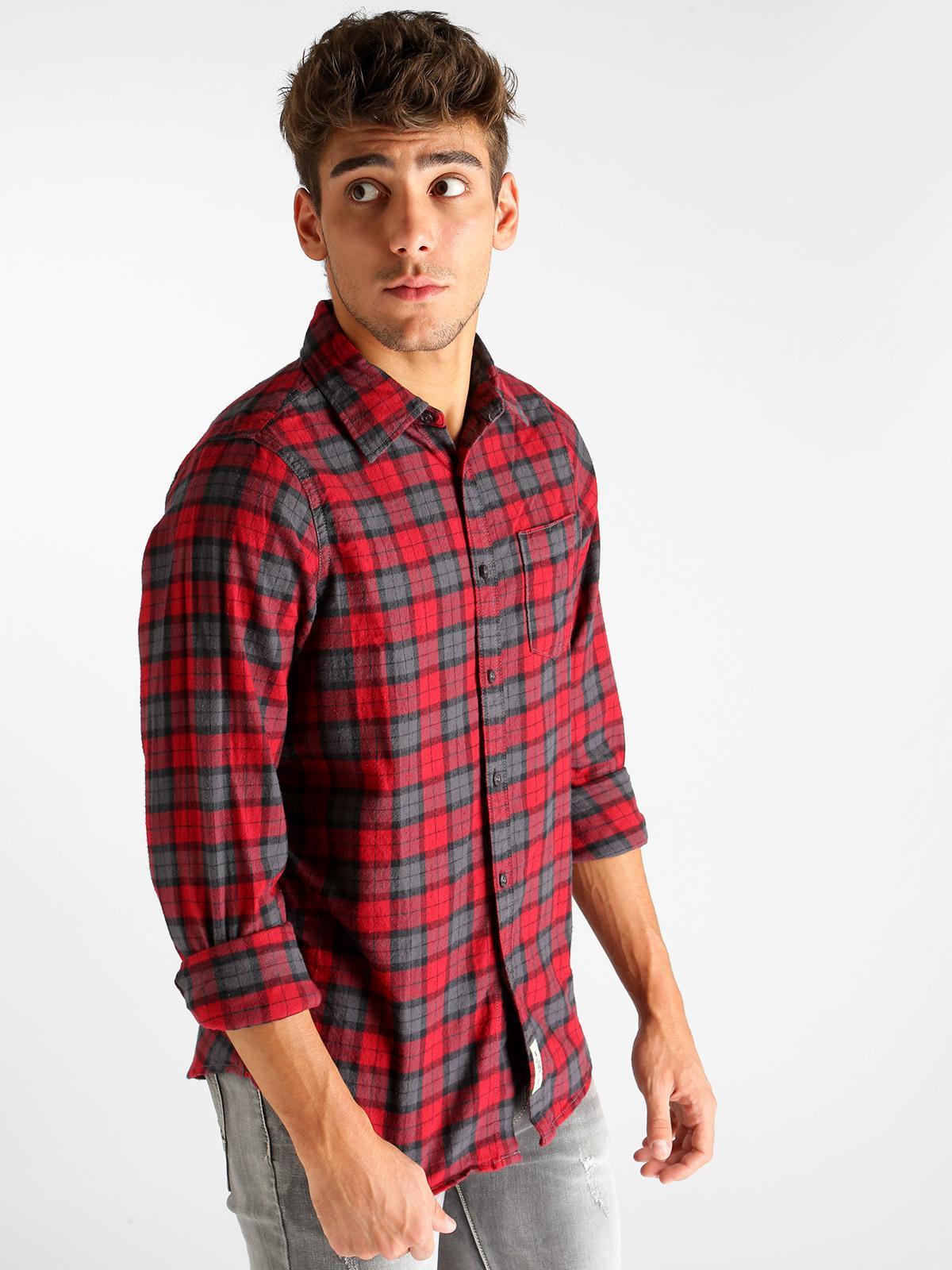 finest selection db17a 1621b Camicia scozzese caldo cotone- slim fit x-cape | MecShopping