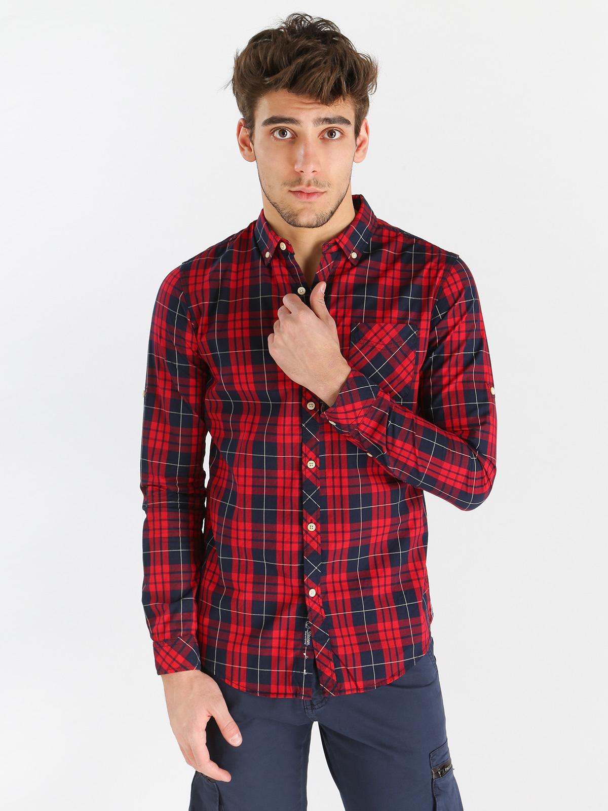 check out 0a0ec 1fed4 Camicia scozzese uomo enos | MecShopping