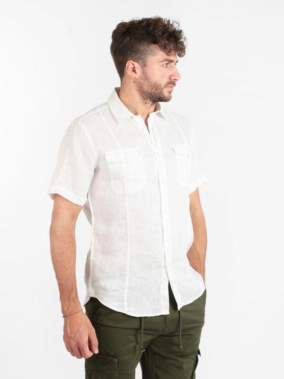 4535I camicia uomo MESSAGERIE lino manica corta shirts men
