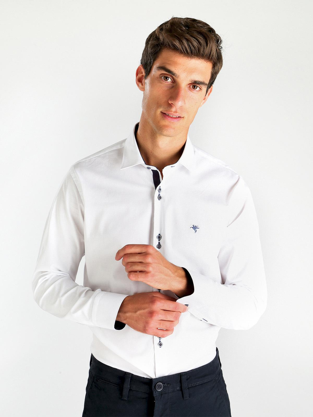 68d97ae5de Camicia uomo stretch - slim fit fb class | MecShopping