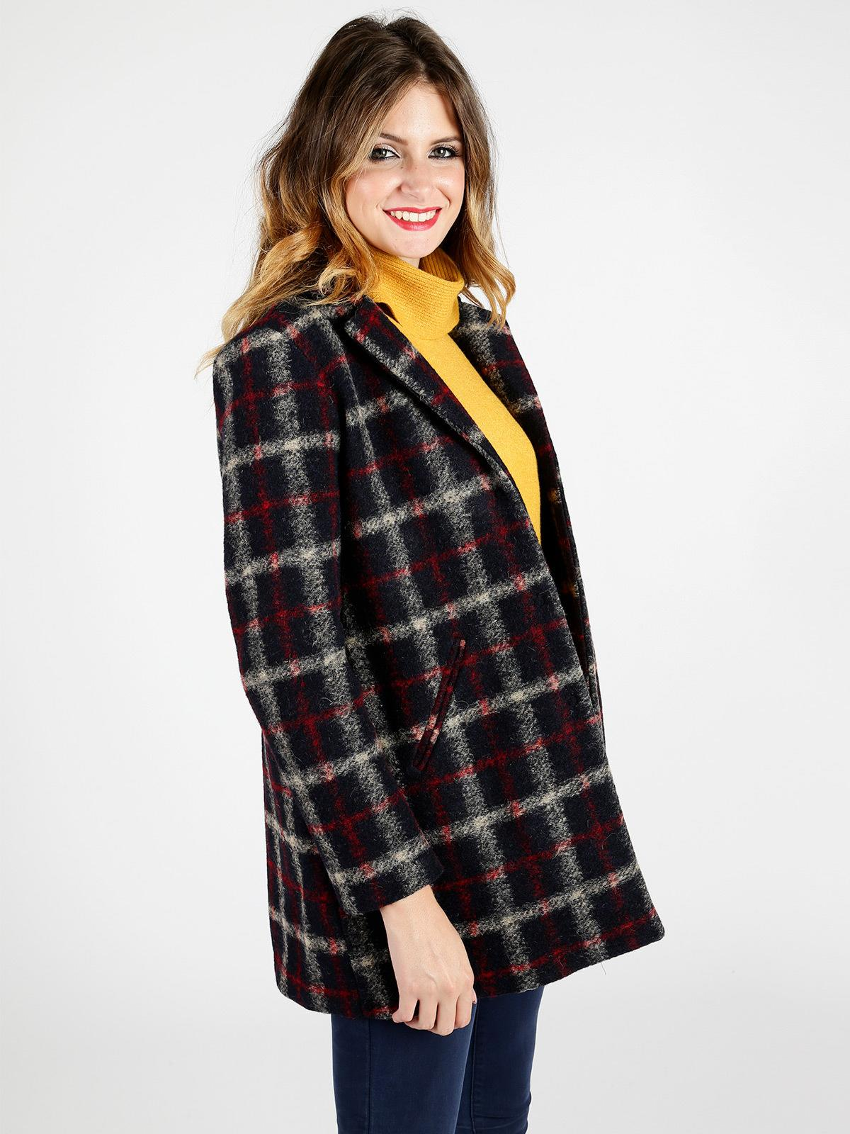 wholesale dealer 958fa c55c6 Cappotto a quadri misto lana graffio | MecShopping