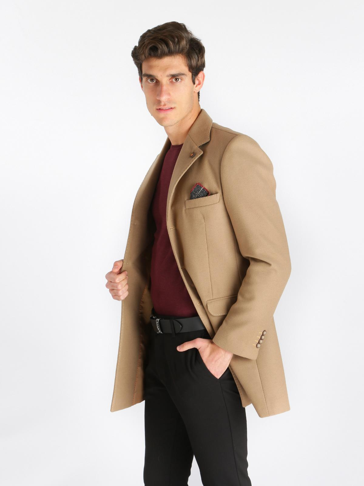 cappotto scarpe cammello uomo