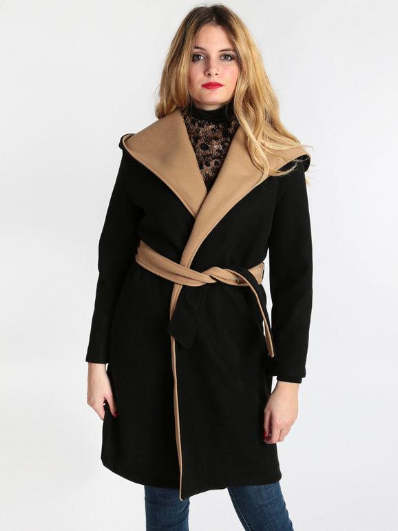 Cappotto con cappuccio e cintura stella h | MecShopping