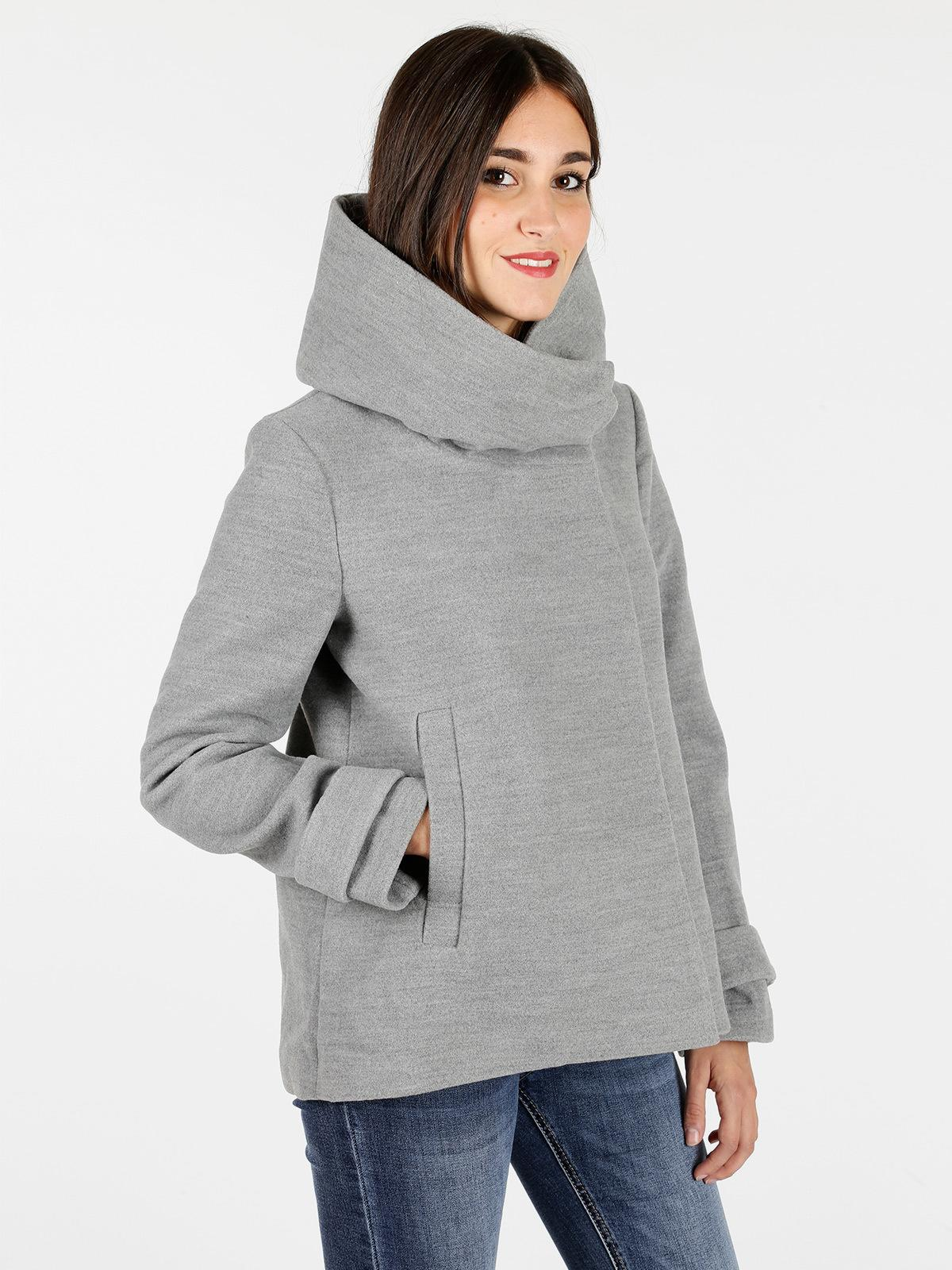 buy popular 4e529 c4629 Cappotto con cappuccio - grigio solada | MecShopping