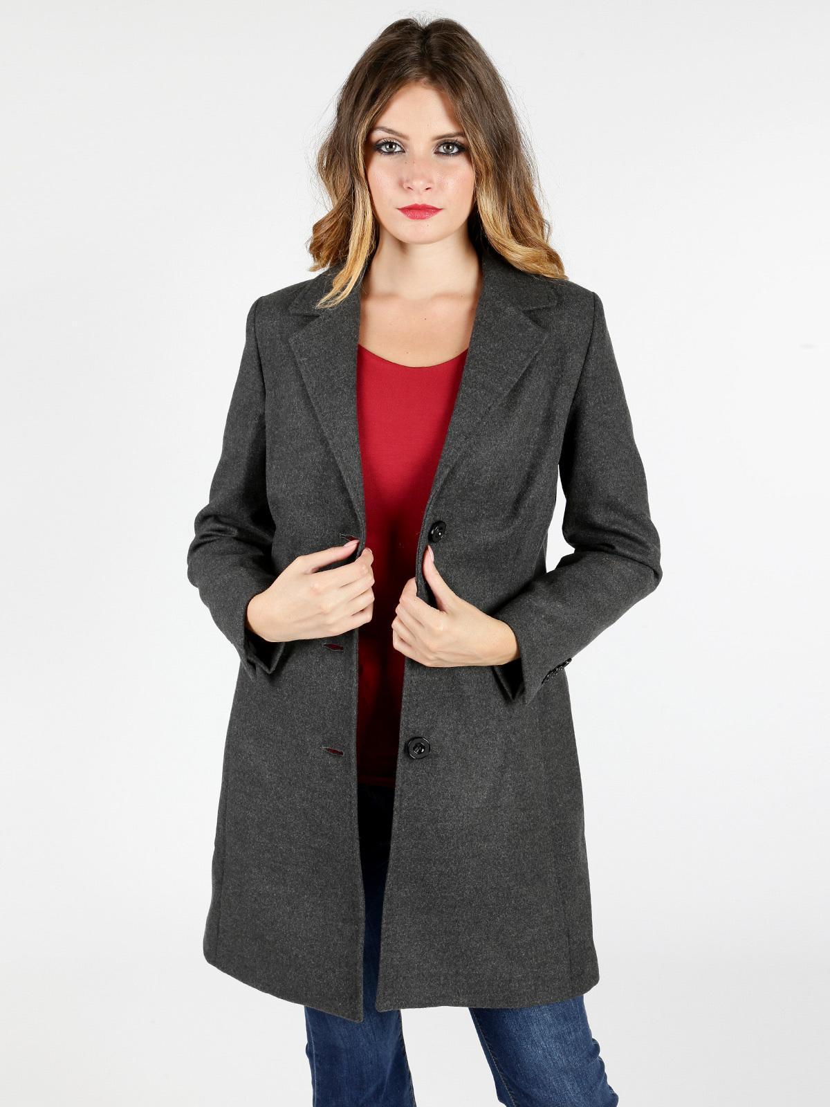 new concept 5ad36 d3ac5 Cappotto grigio donna graffio | MecShopping