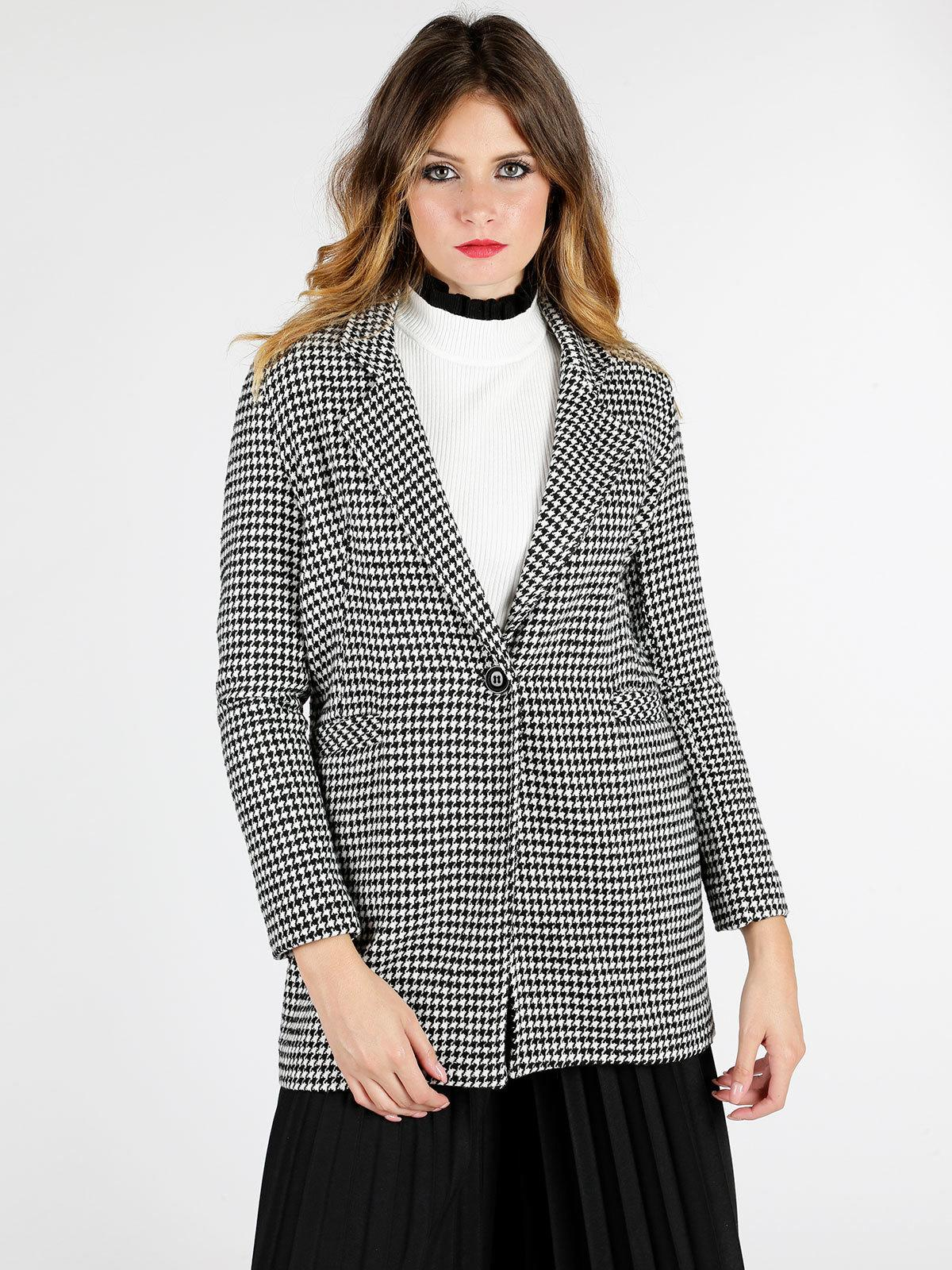 best sneakers 9b3ac fede6 Cappotto pied de poule coveri collection | MecShopping