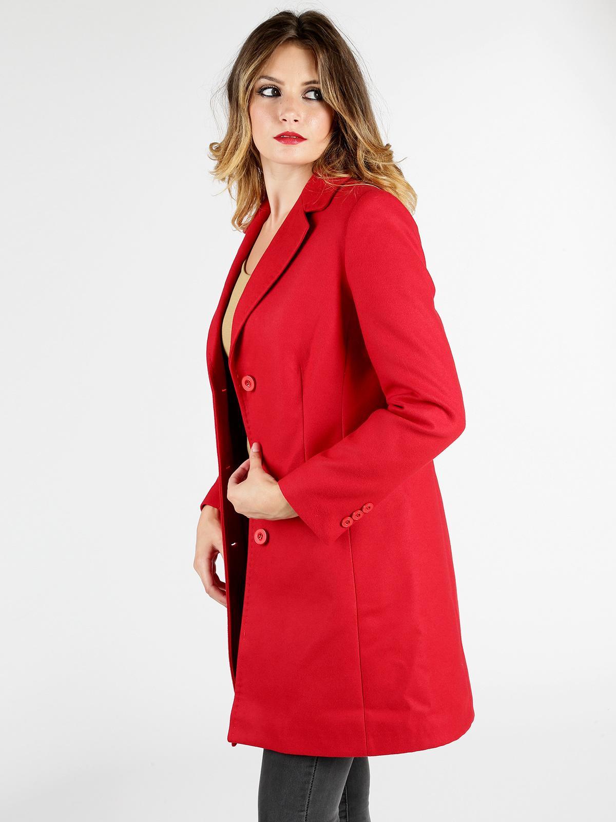 Cappotto rosso donna graffio | MecShopping