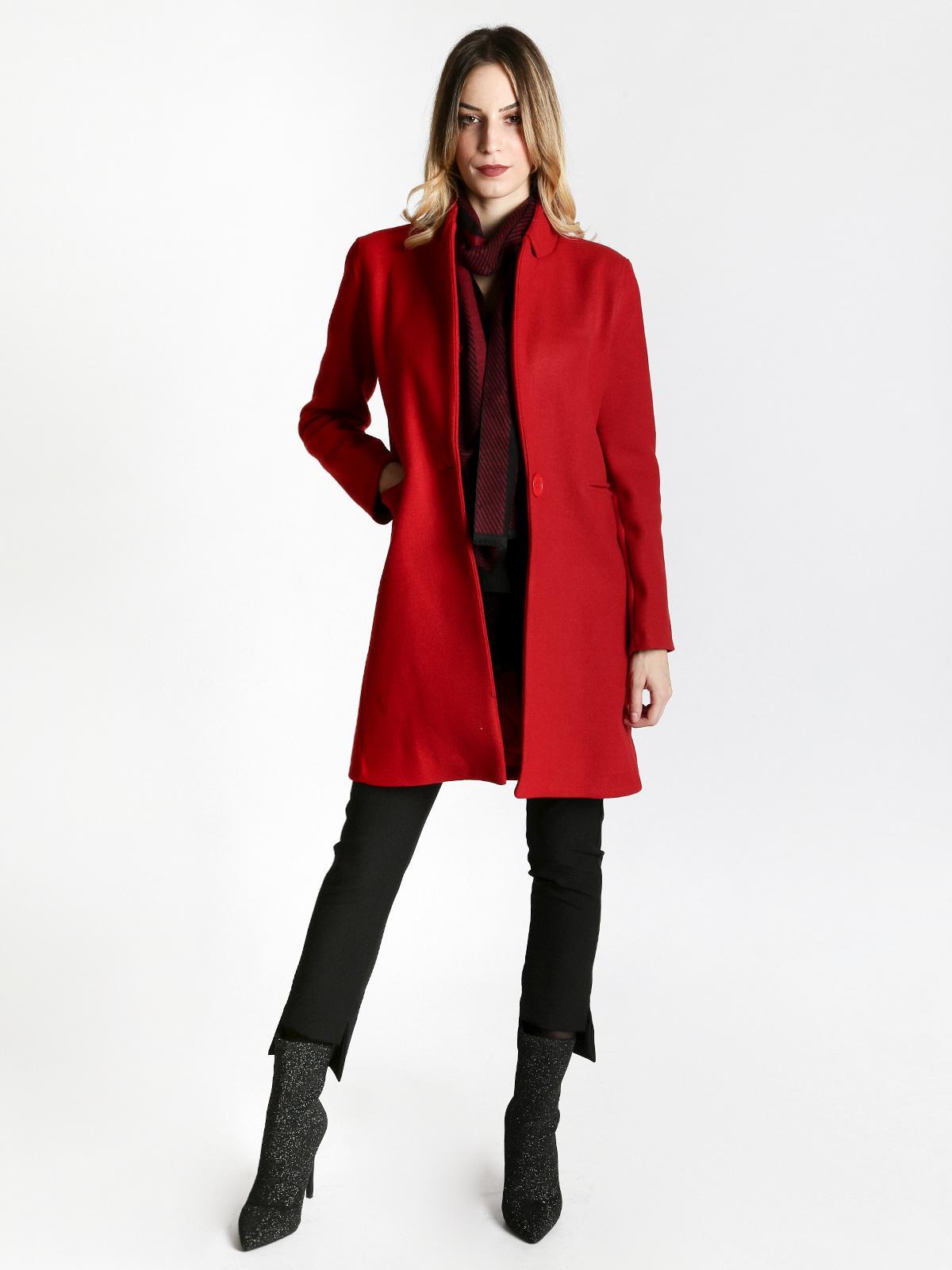 Cappotto rosso donna lumina | MecShopping