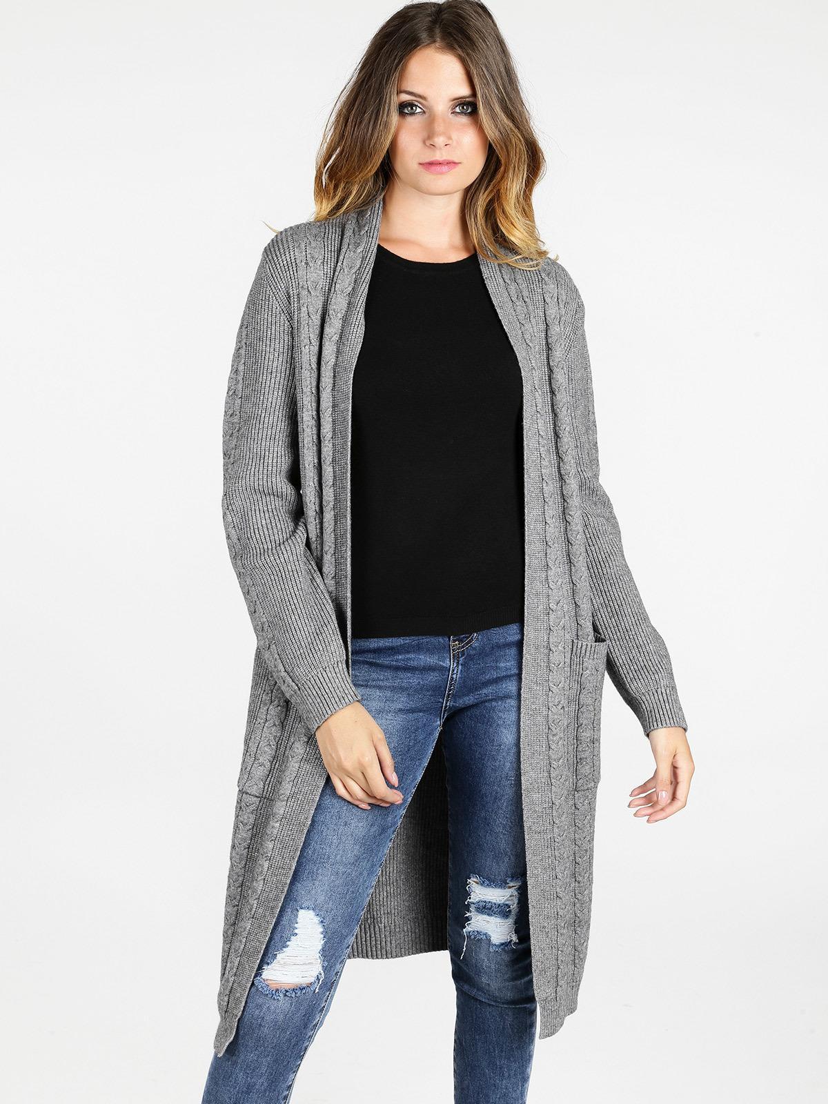 quality design c19ca 5efbe solada Cardigan lungo in maglia - grigio | MecShopping