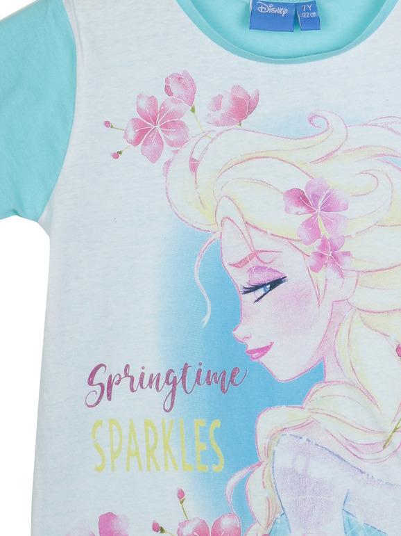 Maglia Maglietta Fluorescente a Maniche Lunghe Bambina Disney Frozen 2 Cotone