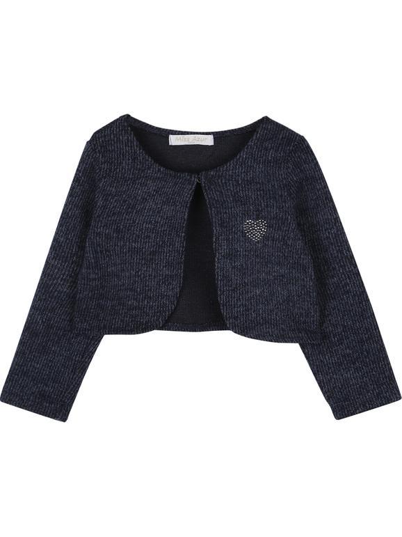 Coprispalle blu + maglia bianca + leggings blu - completo 3 pezzi in caldo cotone