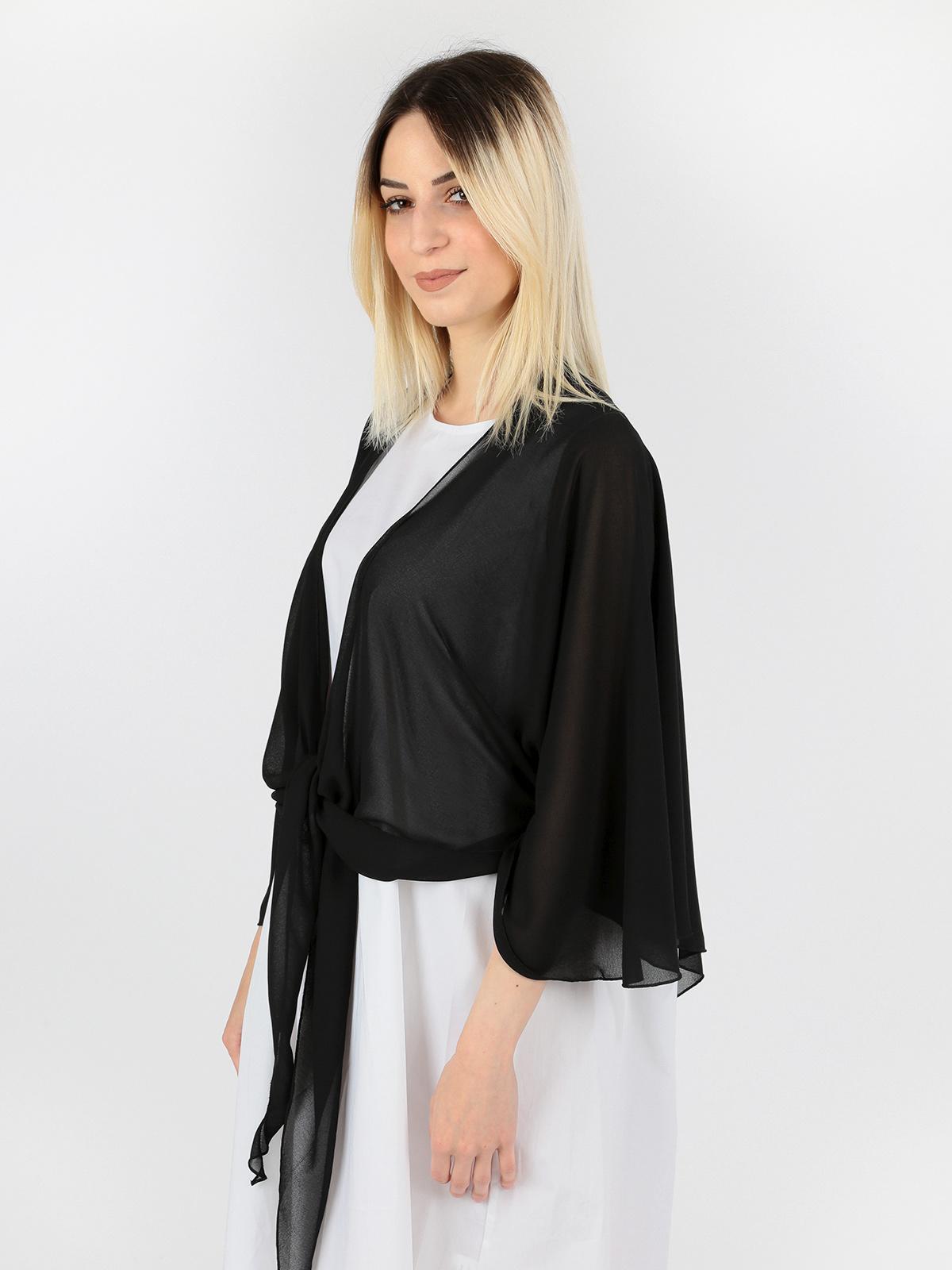 sale retailer 87973 0cdbb Con Nodo Elegante SoladaMecshopping Coprispalle Nero trhsQCd
