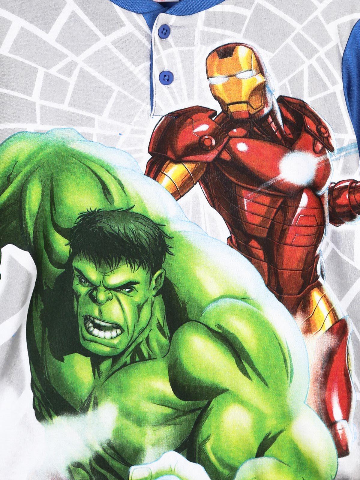 marvel Cotton pajamas with hulk and iron man print | MecShopping