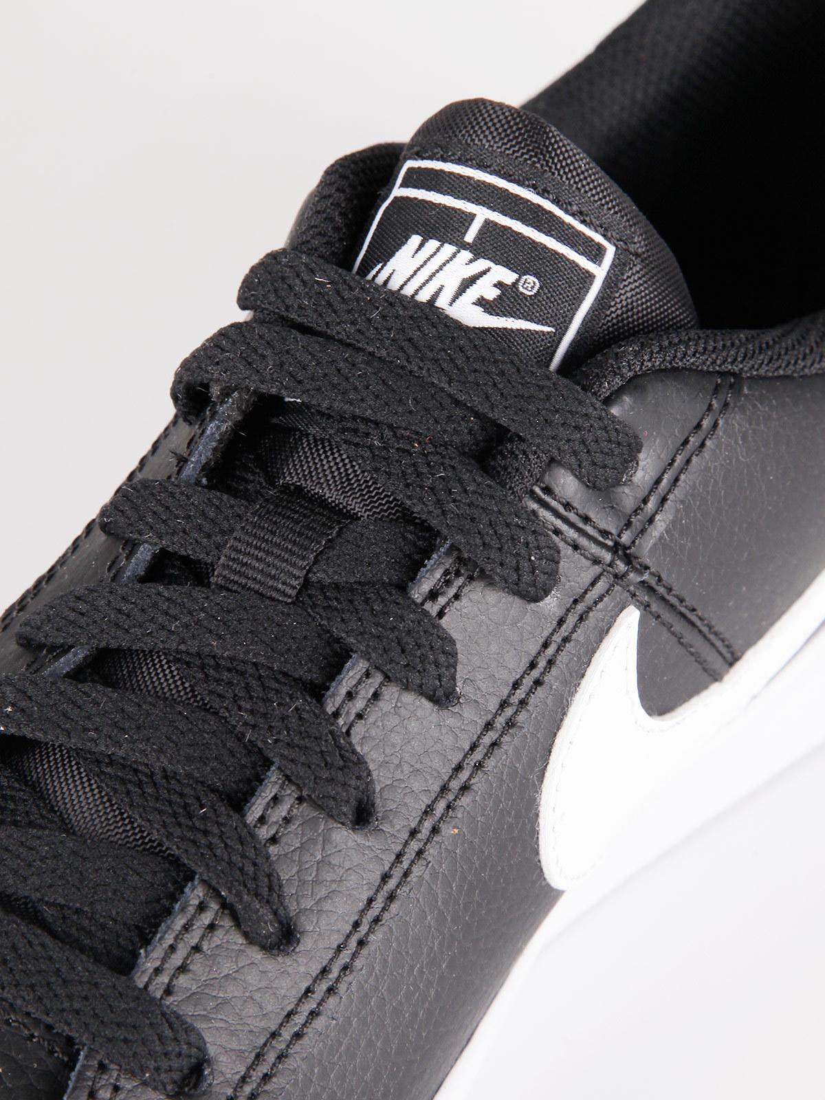 sneakers donna pelle nike nere