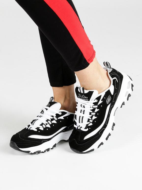 valore eccezionale prezzo speciale per vasto assortimento D'lite - Scarpe sportive nere e bianche skechers | MecShopping