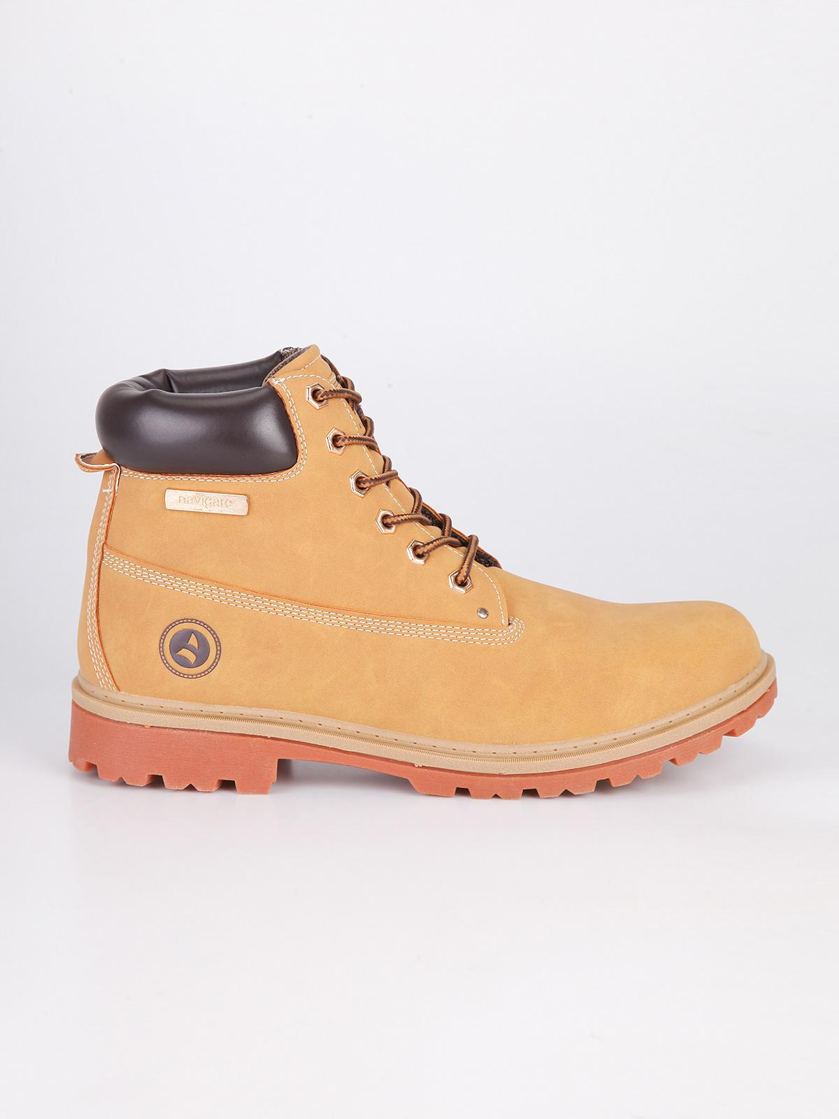 reputable site 0eb8c a390c navigare Eco-leather boots - camel | MecShopping