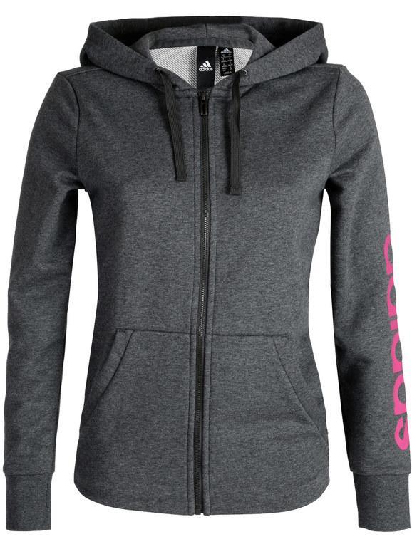 Giacca felpa con cerniera essentiel hoodie con cappuccio