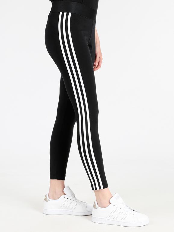 Essentials 3 stripes Leggings fitness neri adidas