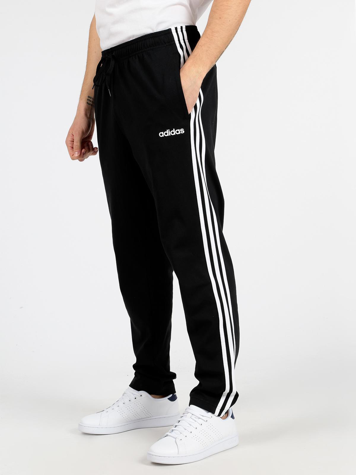 Essentials 3 Stripes Tapered Open Hem Pantaloni sportivi