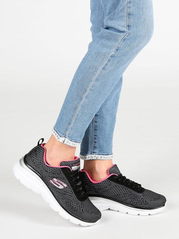 Fashion Fit Bold boundaries scarpe fitness nere skechers