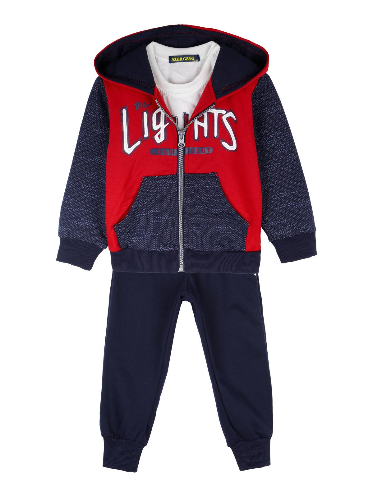 azur gang Felpa con cappuccio + maglia + pantaloni sportivi