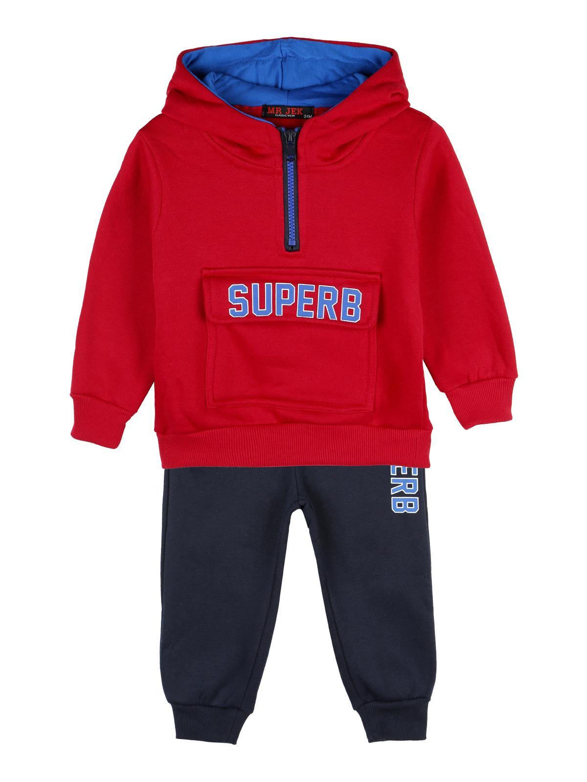 Felpa con cappuccio + pantaloni tuta completo sportivo blu