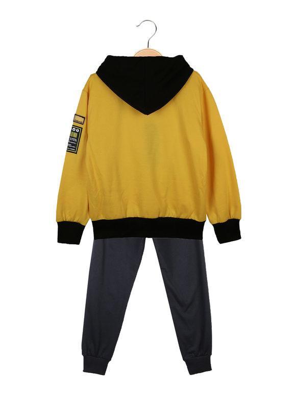 Felpa con cappuccio + t-shirt + pantaloni sportivi - completo 3 pezzi