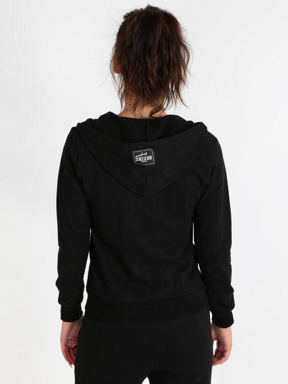 Dettagli su Felpa da donna Nike cotone manica lunga fullzip doppio cursore con cappuccio