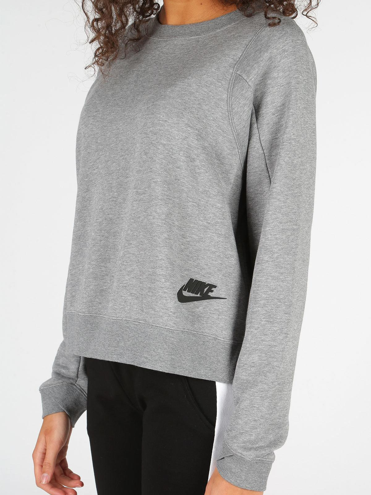 nike sportswear felpa grigia